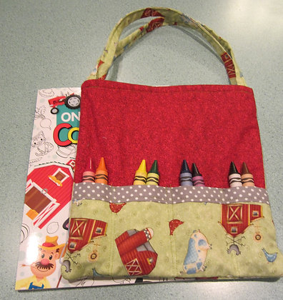Red Barn Farm - Jumbo Crayon Tote