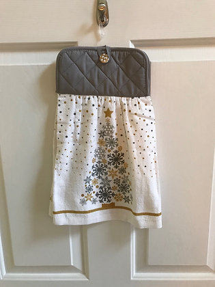 Silver Snowflake Tree - Towel