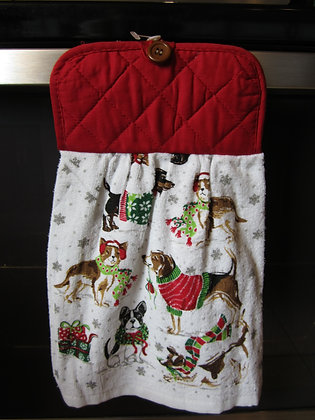 Christmas Canines Towel