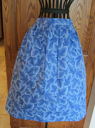 Delft Leaves  - Half Gathered Apron