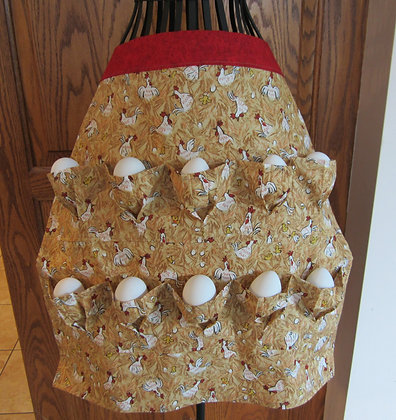 Chickens on Hay - Egg Gathering Apron
