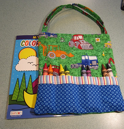 Construction Zone  - Jumbo Crayon Tote