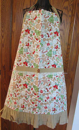 Gingerbread - Chef Apron with Ruffle