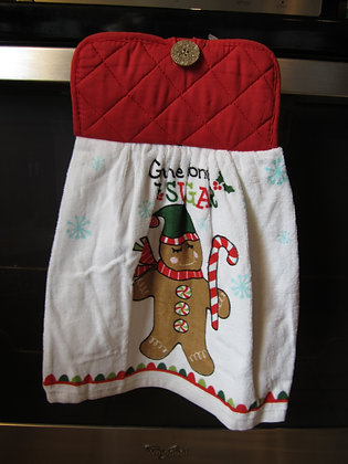 Candy Cane Gingerbread Towel