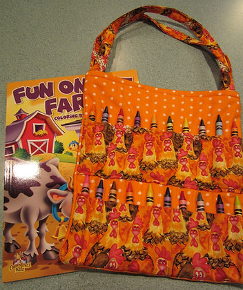 Chicken Dot - Kid's Crayon Tote
