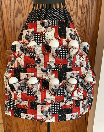 Chicken Block and Check  - Egg Gathering Apron