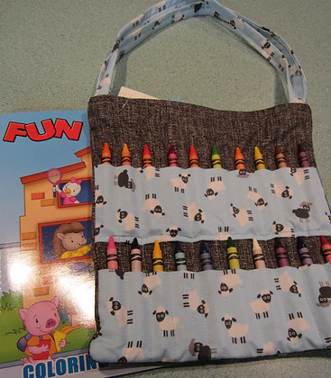 Little Sheep- Kid's Crayon Tote