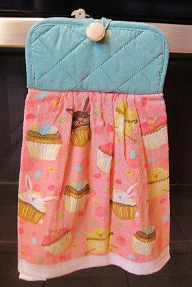 Easter Cupcake (Turq)  - Towel