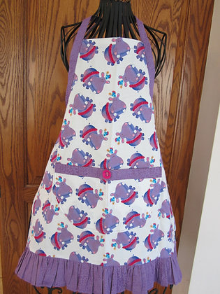 Hippos in Tutus - Kid's Ruffled Chef Apron