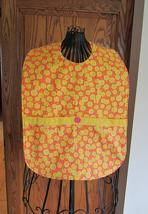 Hot Pink & Yellow Floral - Adult Clothing Protector