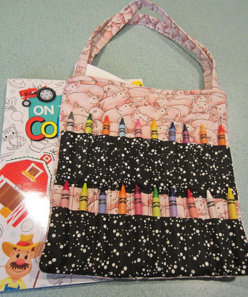 Sweet Pigs - Kid's Crayon Tote