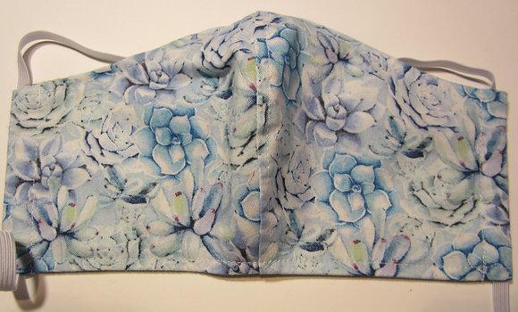 Succulents Blue Mask
