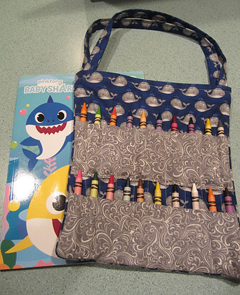 Baby Whales - Kid's Crayon Tote