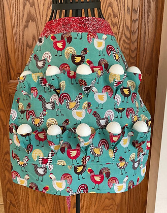 Chickens, Chickens, Chickens - Egg Gathering Apron