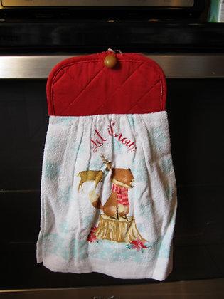 Winter Woodland Friends Towel