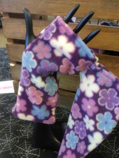 Purple Floral - Fingerless Gloves