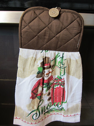 Sledding Snowman Towel