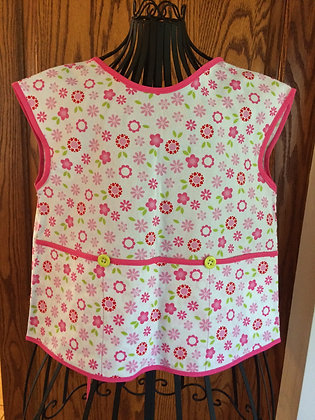 Pink and Lime Floral - Painter Style Apron