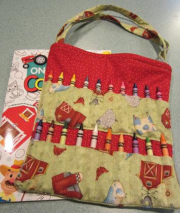 Red Barn Farm - Kid's Crayon Tote