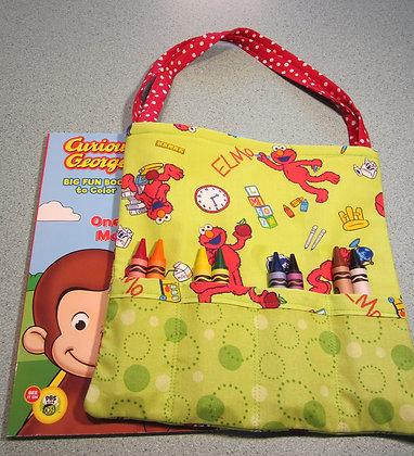 Elmo School - Jumbo Crayon Tote