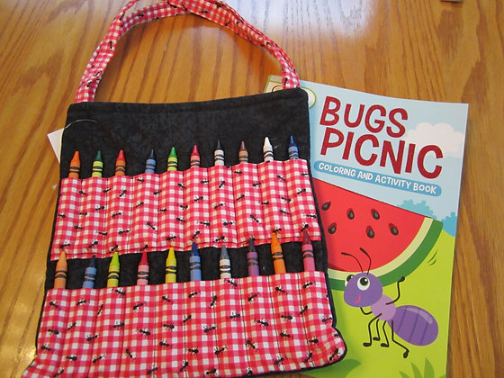 Gingham Ants - Kid's Crayon Tote