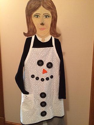 Button Snowman - Novelty Apron