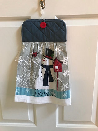 Snowman Birdhouse - Towel