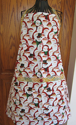 Santa Baby - Seasonal Chef Apron with Contrast Trim