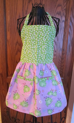 Hairbow Frogs - Kid's Dressy Chef Apron