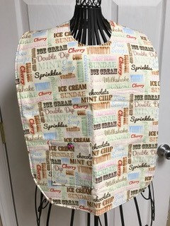 Ice Cream Words - Adult Clothing Protector