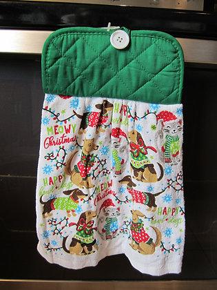 Meowy Christmas Towel