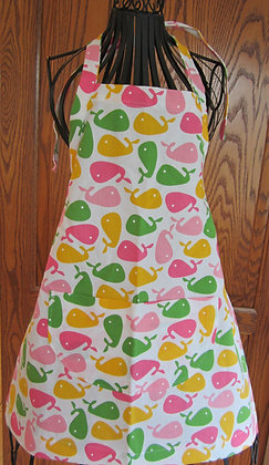 Girly Whales - Kid's Chef Apron