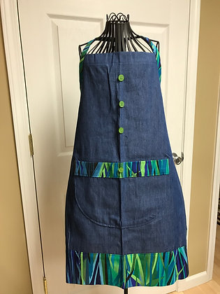 Technicolor Everglades - Button Trio Apron