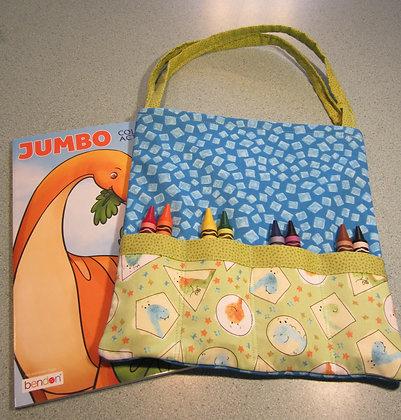 Dino Heads - Jumbo Crayon Tote