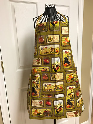 Give Thanks Block  - Chef Apron