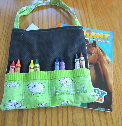 Sheep Fence - Jumbo Crayon Tote