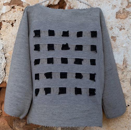blusa crochê e organza