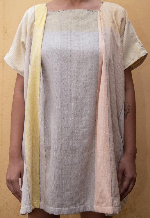túnica curta de tear