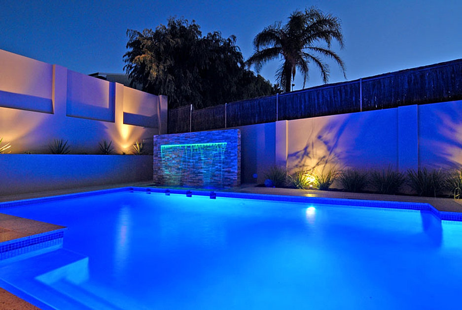 Perth concrete pools award winning quality at an - Swimming pool water features perth ...