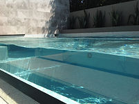 Swimming Pool Design with glass window