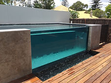 National SPASA Award of Excellence for this infinity edge swimming pool