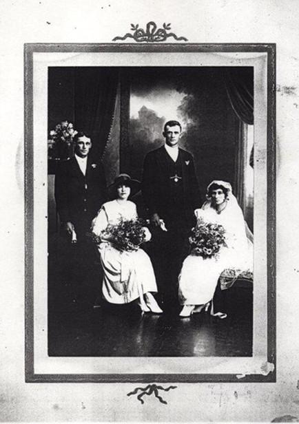 Charles Clifton Turner & Mabel Jarvis Wedding Day