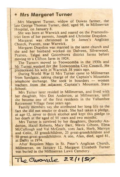 Grandma's Obituary