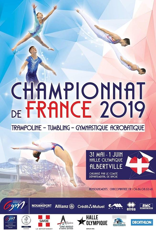 Affiche championnat de France d'Albertville - Trampoline