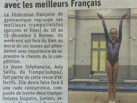 Aely Sailly sélectionnée avec les meilleurs Français