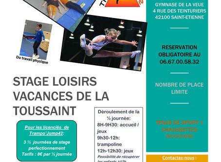 Stage loisirs : Vacances Toussaint