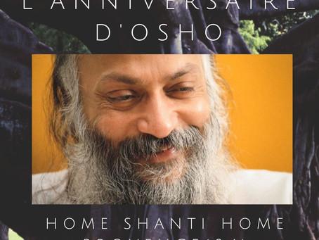 Retrouvez-nous à Home Shanti Home pour la célébration de l'anniversaire d'Osho du 11 au 13 Décembre.
