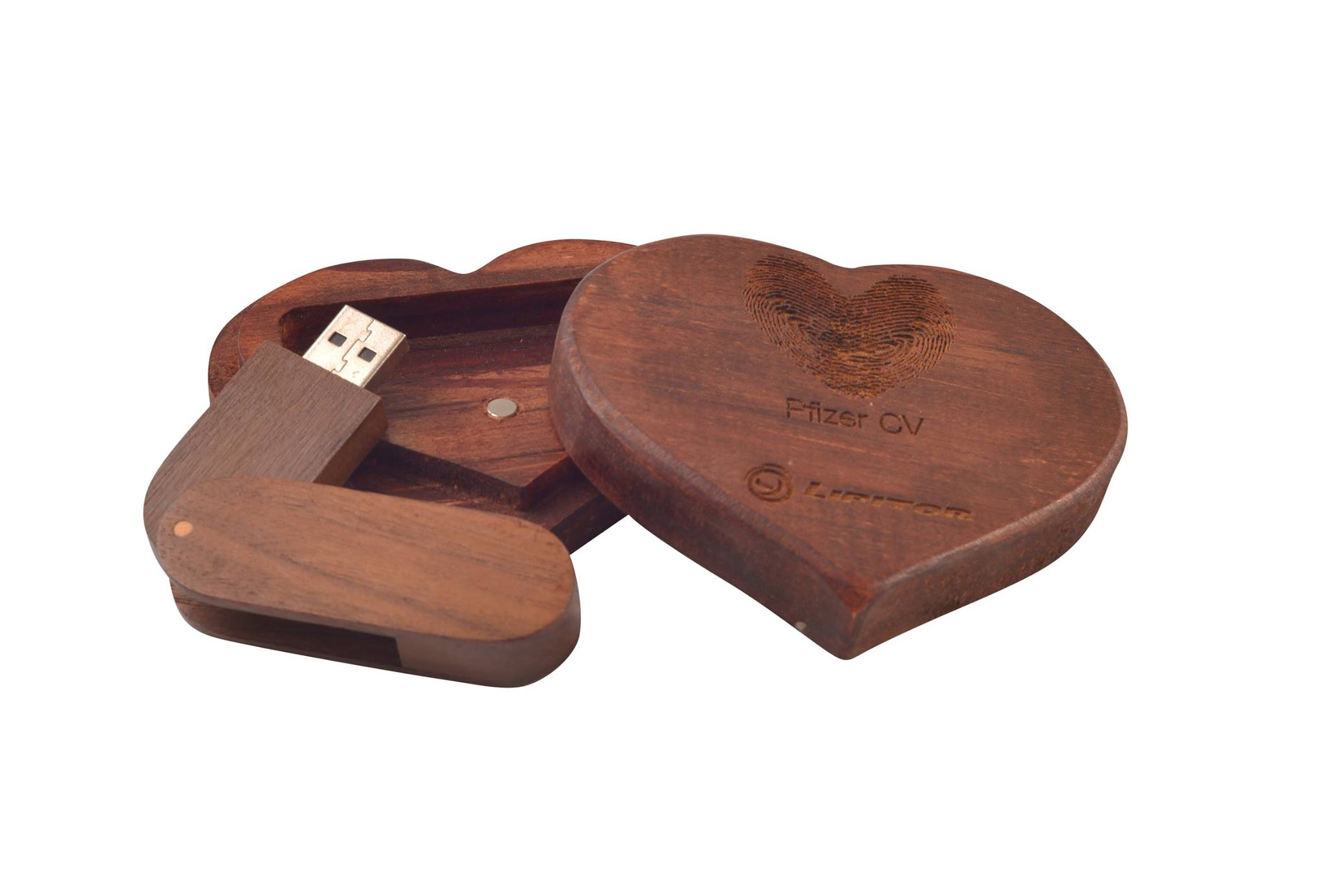 Wooden Custom Shape USB Box