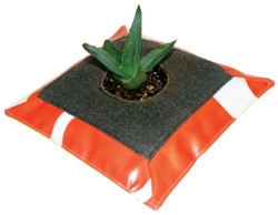 Recycled Billboard Pillow Plant