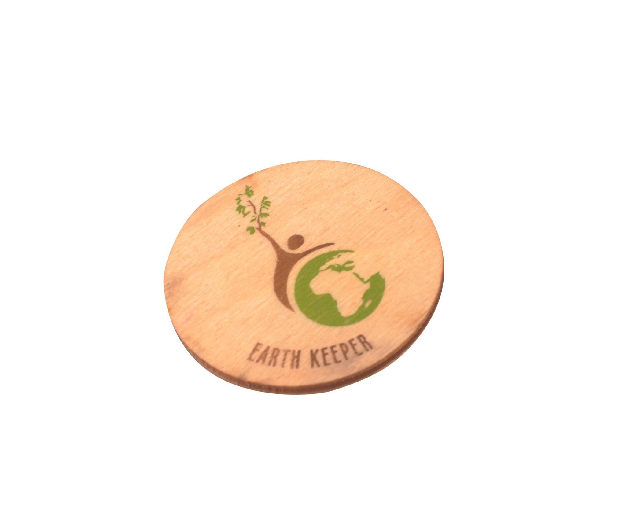 Sustainable Wooden Badges and Magnet